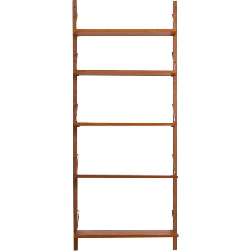 Vintage wall unit shelving with 5 shelves,Poul Cadovius Denmark, 1960s