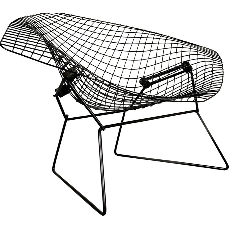 Vintage Large Diamond Lounge Chair by Harry Bertoia for Knoll, 1970s