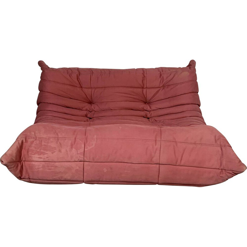 Vintage 2-Seater Pink Togo sofa by Michel Ducaroy for Ligne Roset, 1990s