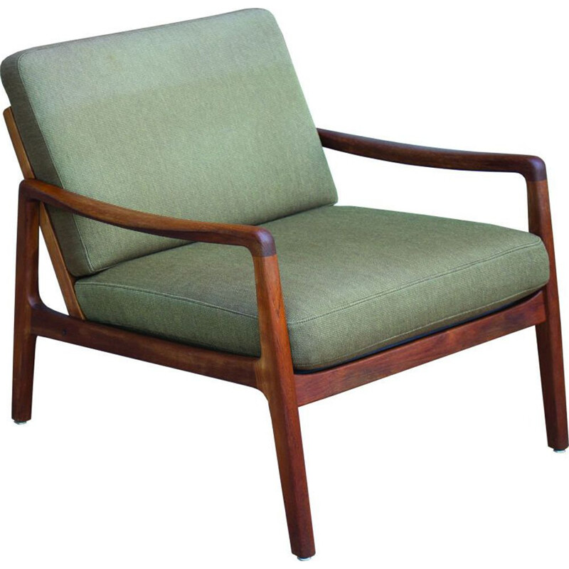 Vintage FD-109 Teak Lounge Chair by Ole Wanscher for France & Son, 1960s