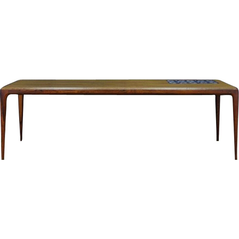 Vintage coffee table in rosewood by Johannes Andersen, Denmark 1960