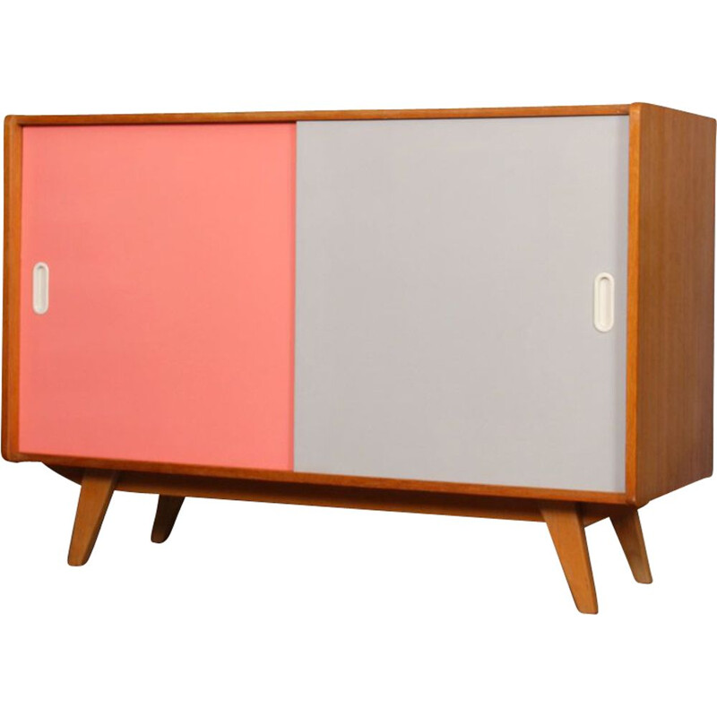 Vintage pink and white chest of drawers by Jiri Jiroutek 1960
