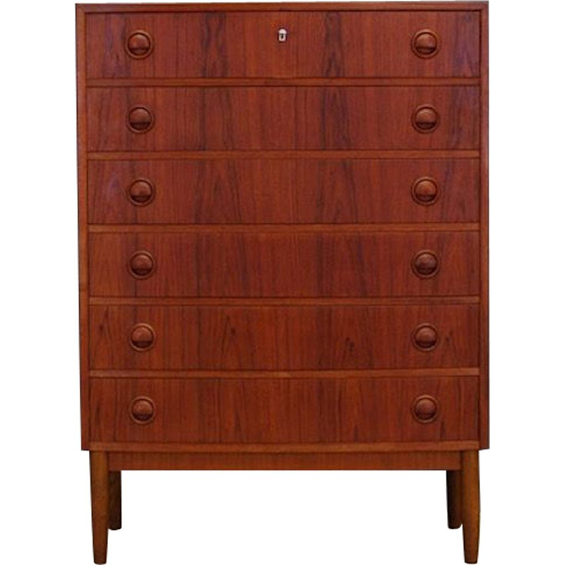 Vintage teak chest of drawers by Kai Kristiansen 1960