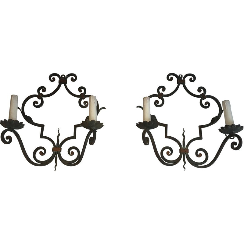 Pair of vintage sconces 1950