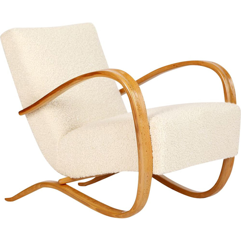 Vintage Streamline Chair by Jindrich Halabala for Spojene UP Zavody 1930