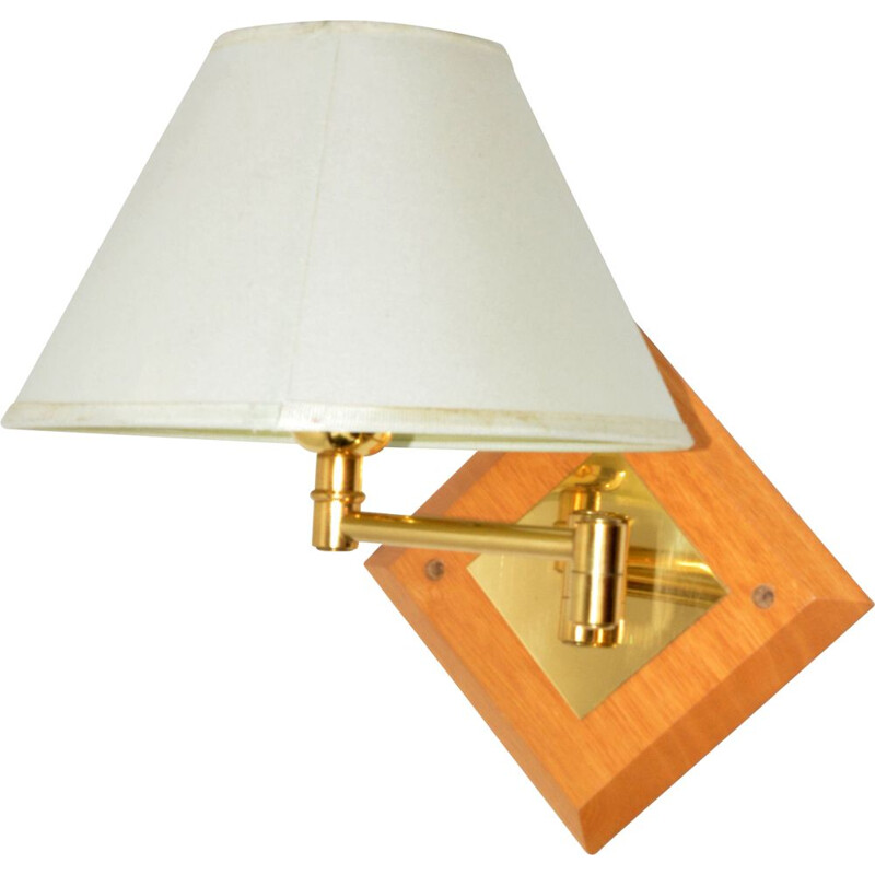Vintage Lampshade wall lamp with a movable arm France 1970