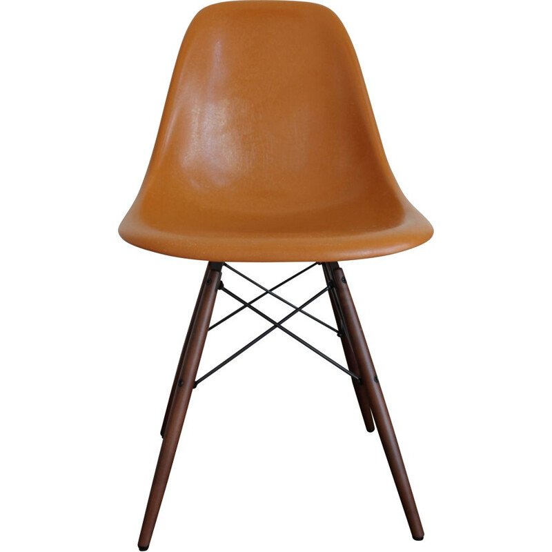 Vintage Vitra fiberglass DSW side chair New Generation