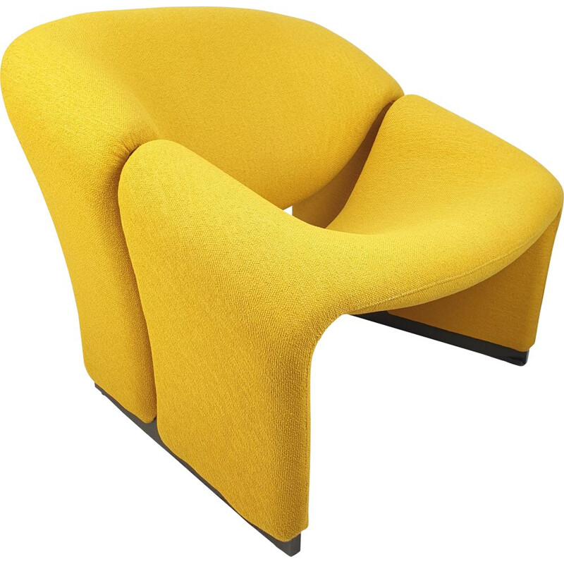 Artifort Groovy Vintage Yellow Armchair Model F580 by Pierre Paulin, 1966