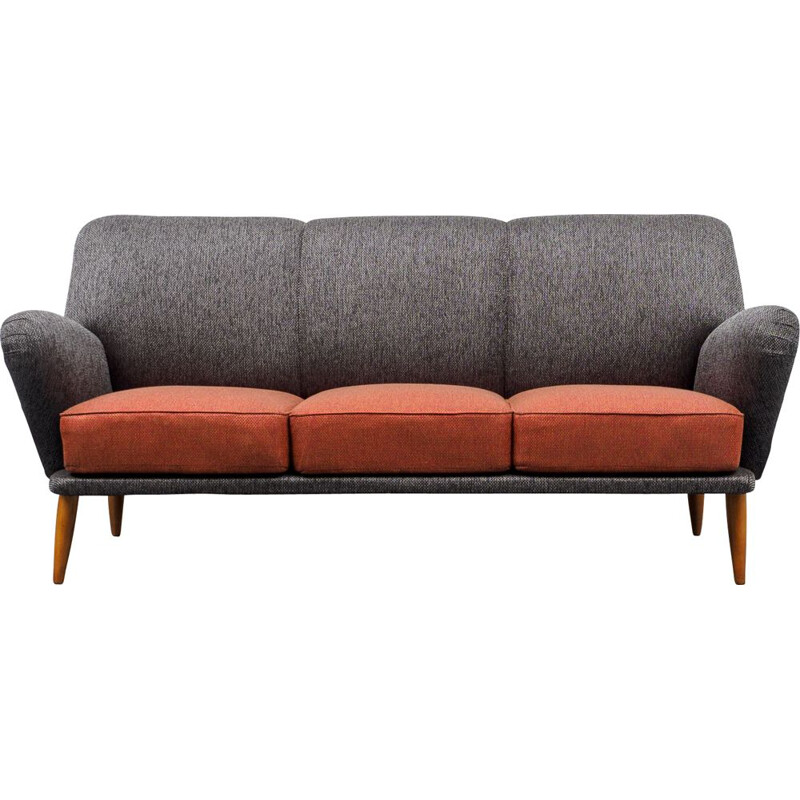 Vintage cocktail sofa, 3-seater 1950s