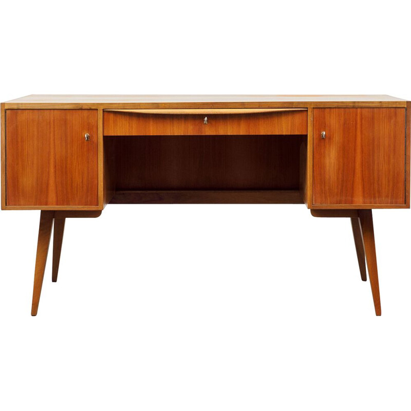 Vintage Franz Ehrlich walnut desk Germany 1960