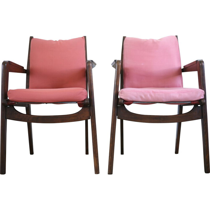 Pair of vintage armchairs by Pierre Guariche Freespan France circa 1950s