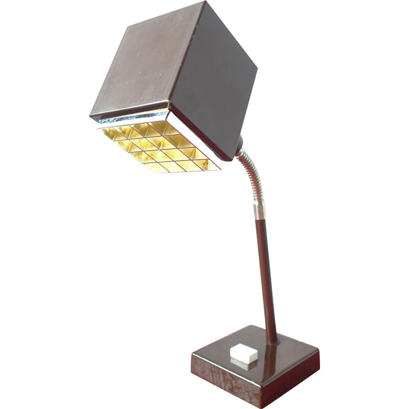 Vintage The Cube Metal Desk Lamp by Hans-Agne Jakobsson for Elidus 1970s