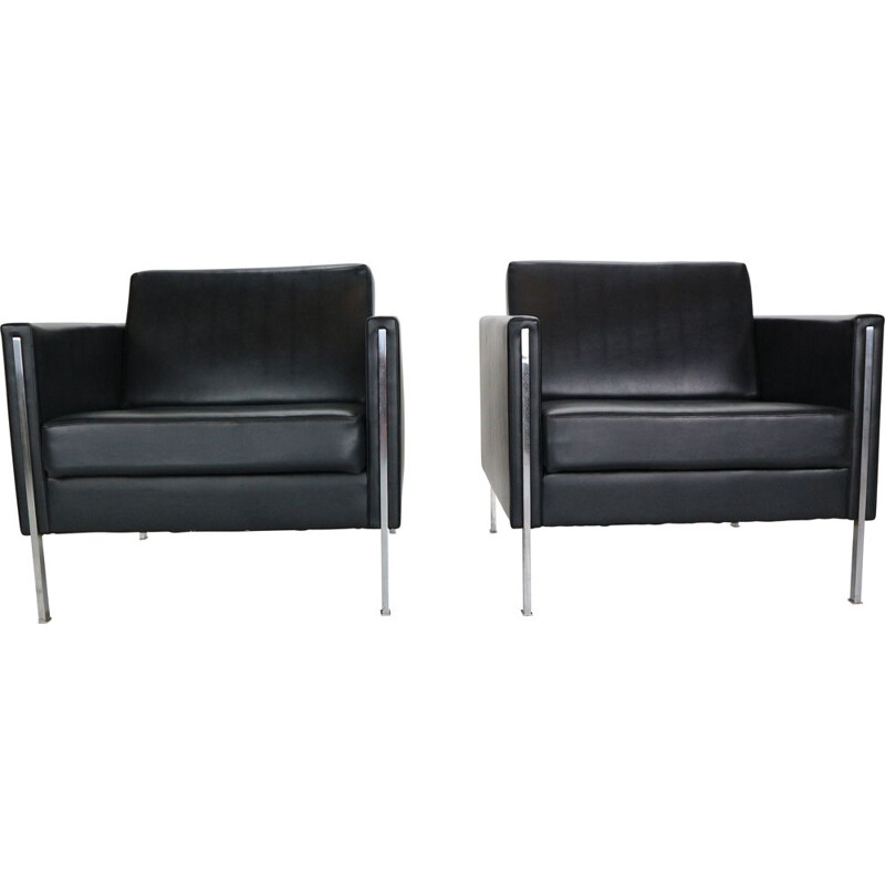 "Pair of vintage Club chairs ""442"" by Pierre Paulin for Artifort. 1962"