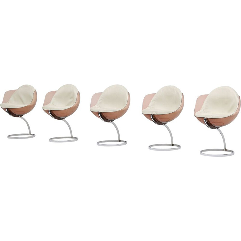 Set of 5 vintage Sphere dining chairs by Boris Tabacoff for Mobilier Modulaire Moderne 1971