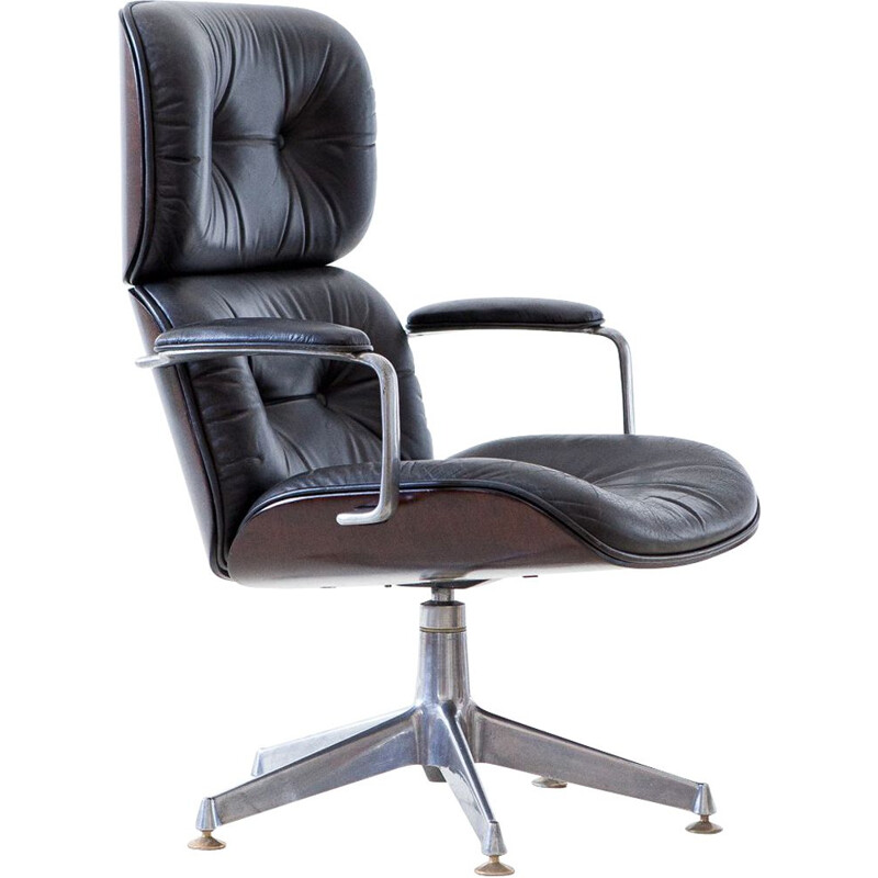 Vintage Executive Swivel Chair by Ico Parisi for MiM Roma Italy