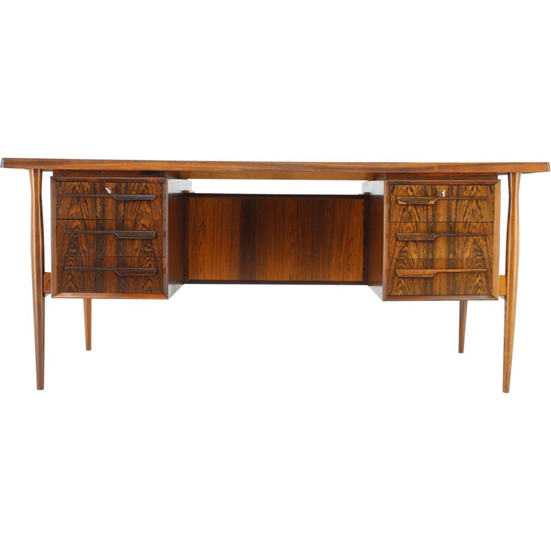 Vintage Writing Desk,Free Standing in rosewood by Arne Vodder, Denmark, 1960