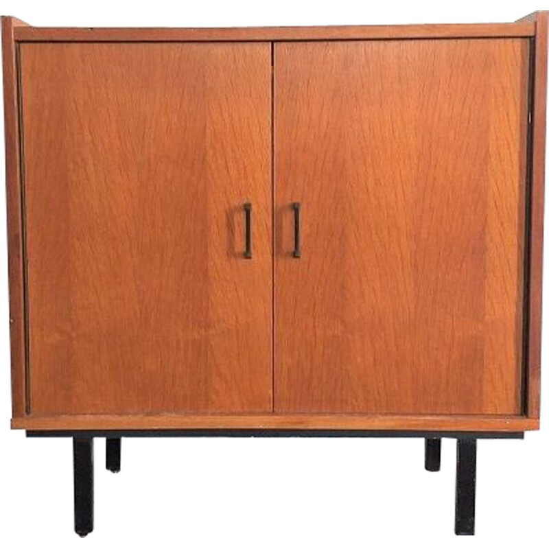 Vintage oak veneered storage cabinet 1960s