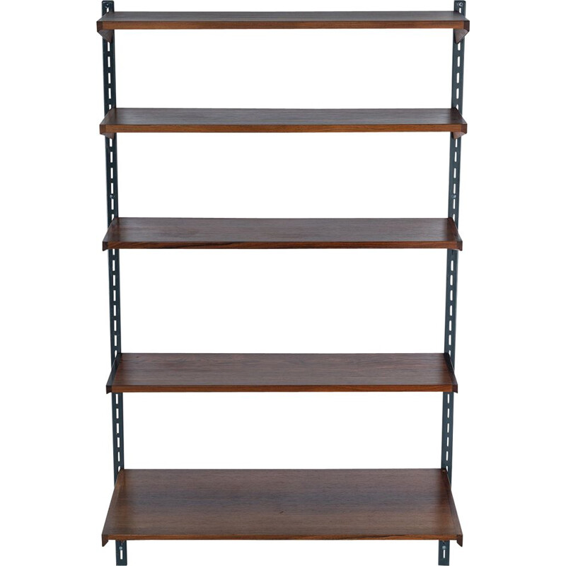 Vintage Rosewood Racking Shelf Unit by Kai Kristiansen for FM Møbler 1960