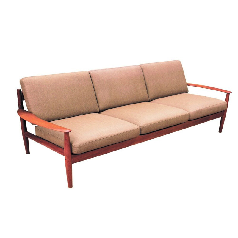 Vintage Teak Sofa by Grete Jalk for France & Son, Danish 1963