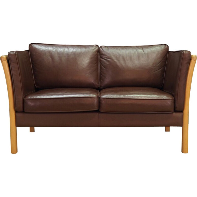 Vintage Leather sofa by Stouby 1970s