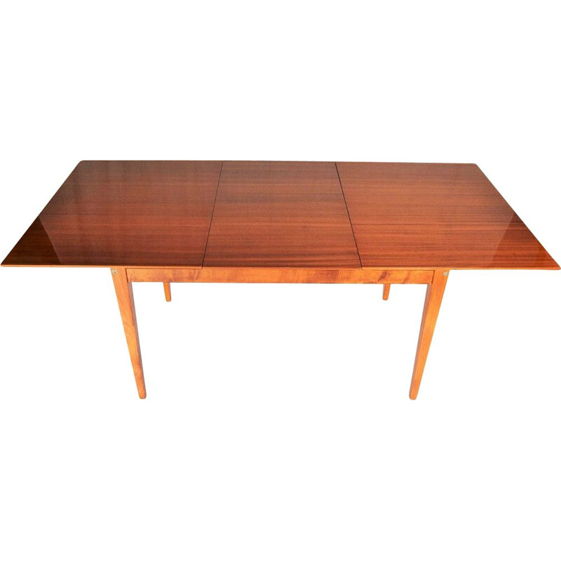 Mid Century Expandable Dining Table Czechoslovakia, 1960