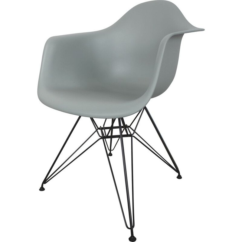 Vintage Vitra Eames DAR plastic arm chair Ray and Charles Eames