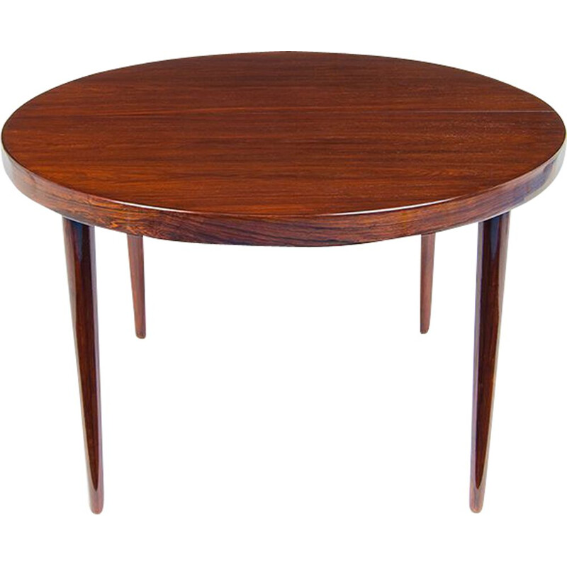 Vintage Dining Table Rosewood by Kai Kristiansen, Danish 1950s