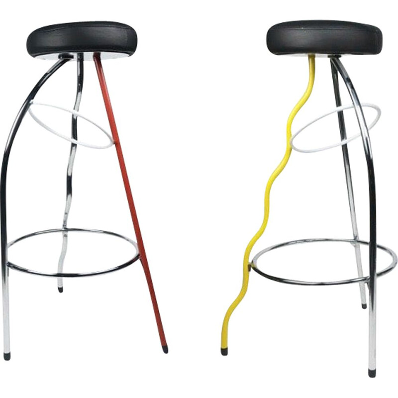 Pair of Vintage Duplex Stool by Javier Mariscal Bd Barcelona 1981