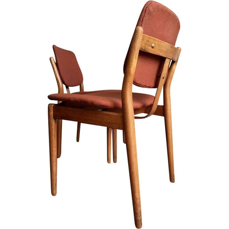 Pair of vintage dining chairs, Arne Vodder for Sibast 1960