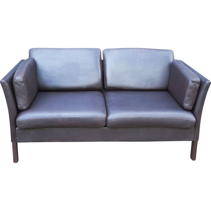 Vintage 2 Seater Danish Leather Sofa Illums Bolighus