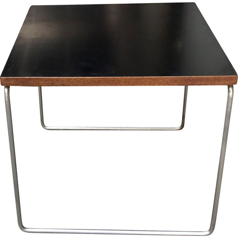 Vintage black coffee table by Pierre GUARICHE 1955s