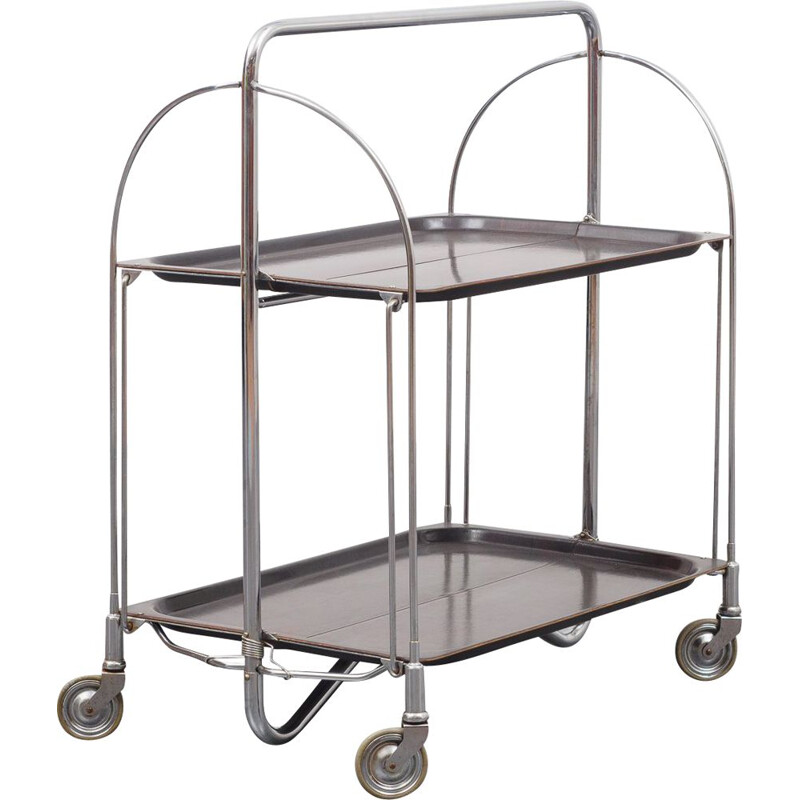 Vintage serving trolley foldable 1960s