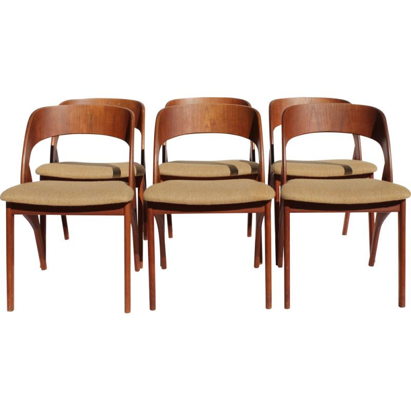 Vintage Dining Room Chairs In Teak, Antique Dining Room Chairs