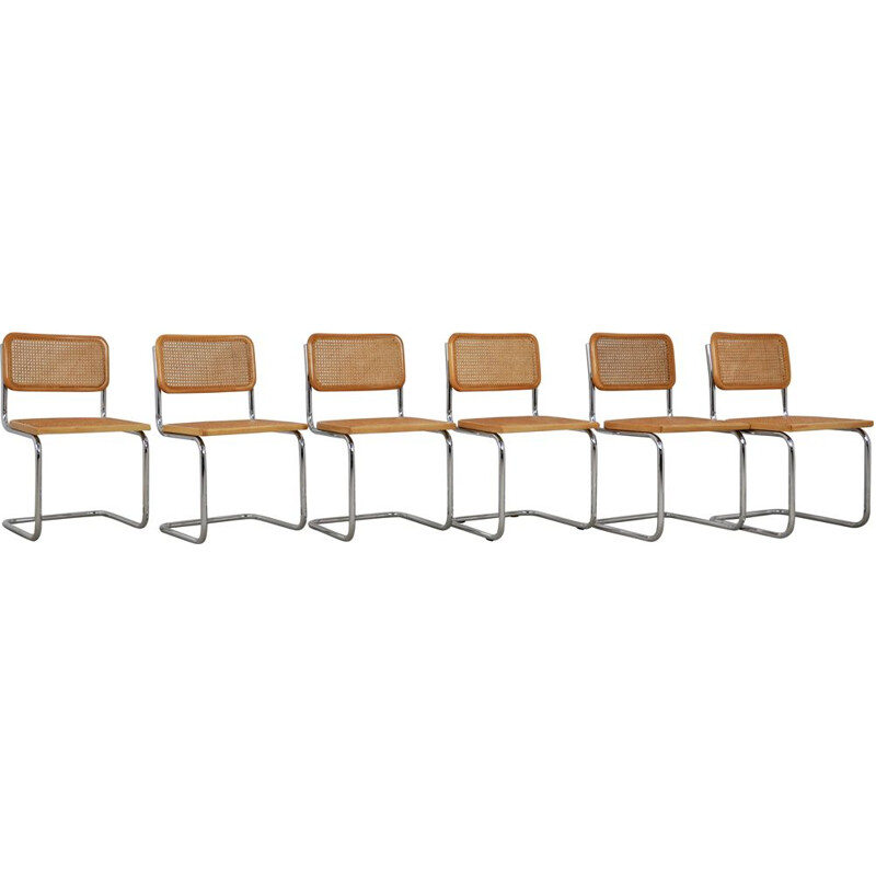 Set of 6 Vintage chairs dinning by Marcel Breuer 1980