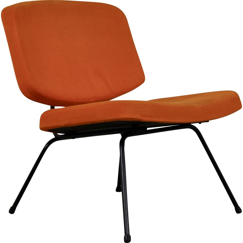 Vintage orange Chair CM190 by Pierre Paulin for Thonet 1950s