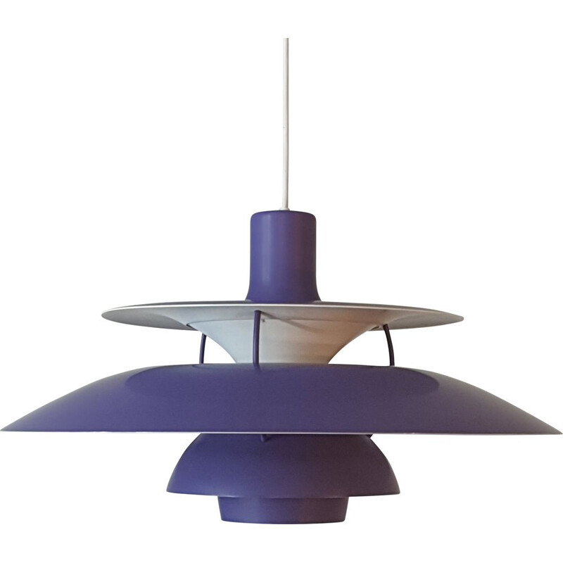 Vintage purple pendant lamp Poul Henningsen for Louis Poulsen 1960