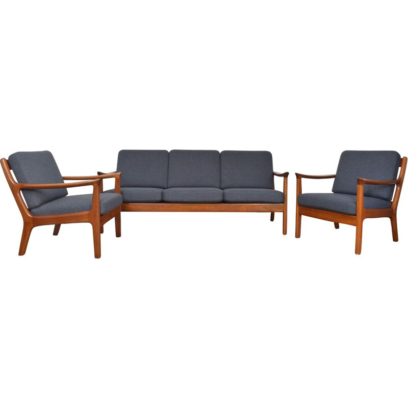 Vintage Danish teak living room set by Juul Kristensen 1960s