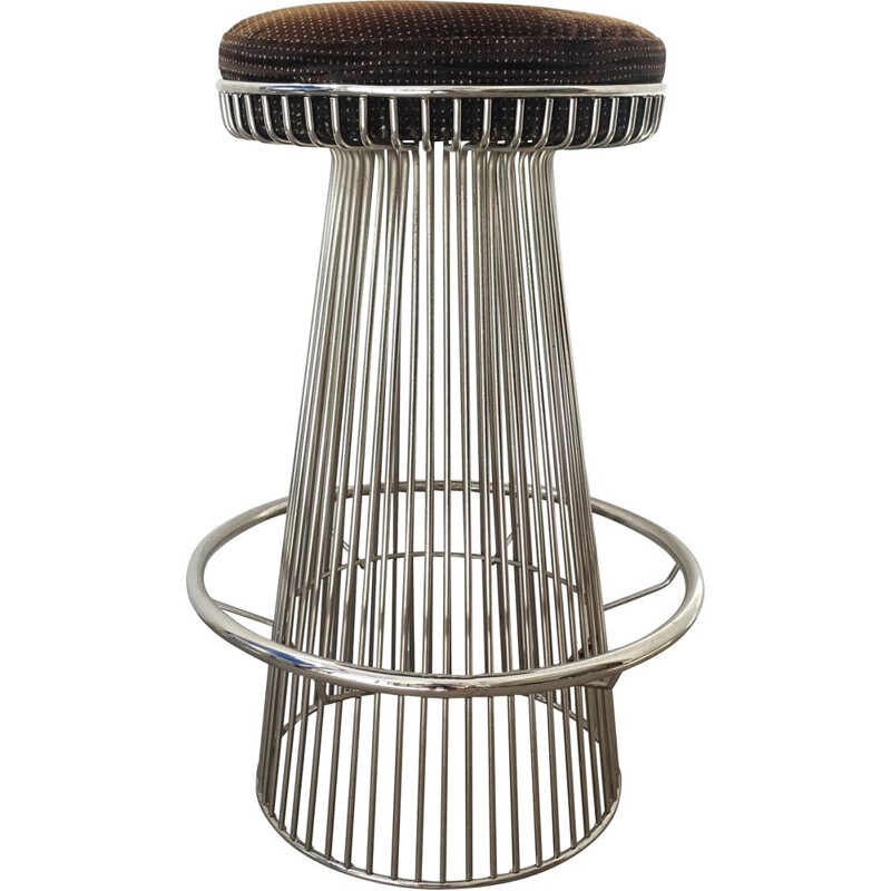 Vintage Warren Platner Style wire-frame Bar Stool 1960s
