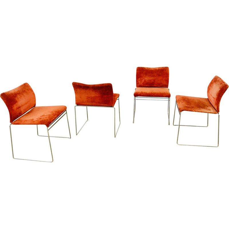 Set of 4 vintage chairs model Jano LG by Cassina 1969
