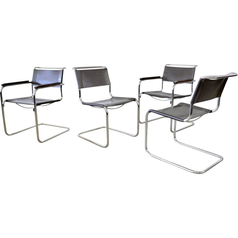 Set of 4 vintage Thonet dining chairs by Mart Stam bauhaus 1927s