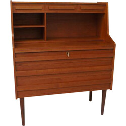 Scandinavian teak secretary with several drawers - 1950s