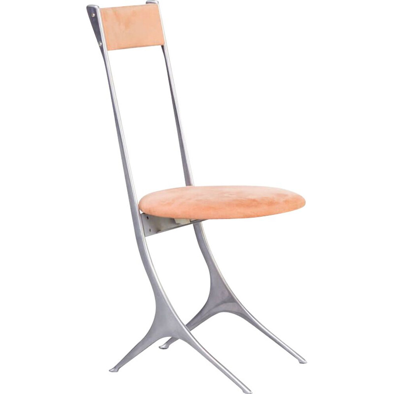 Vintage Minimalistic side chair for Zanotta Italian 1980s