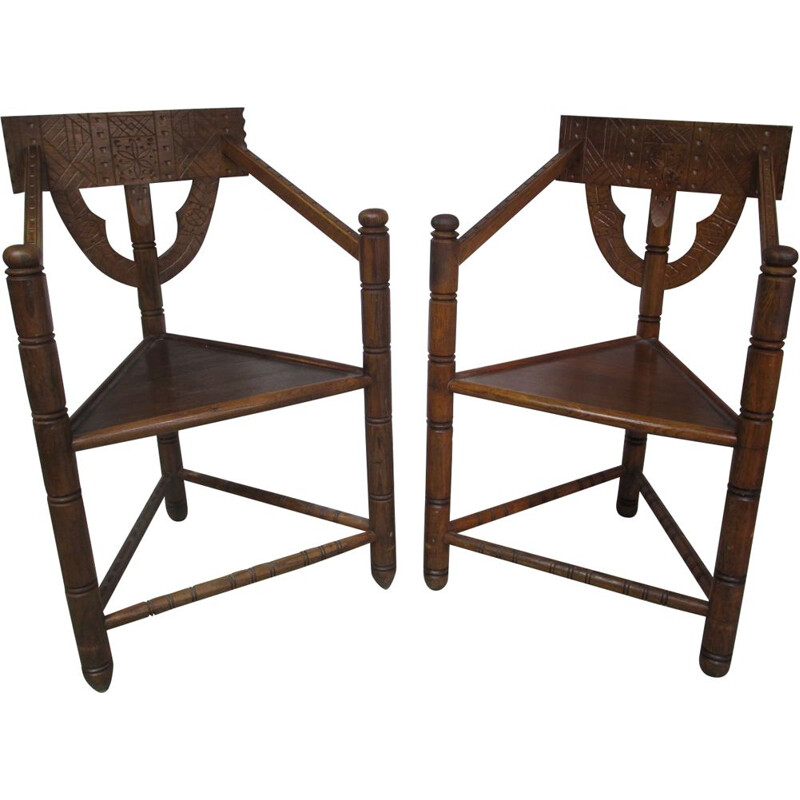 Pair of vintage oak Chairs 1960