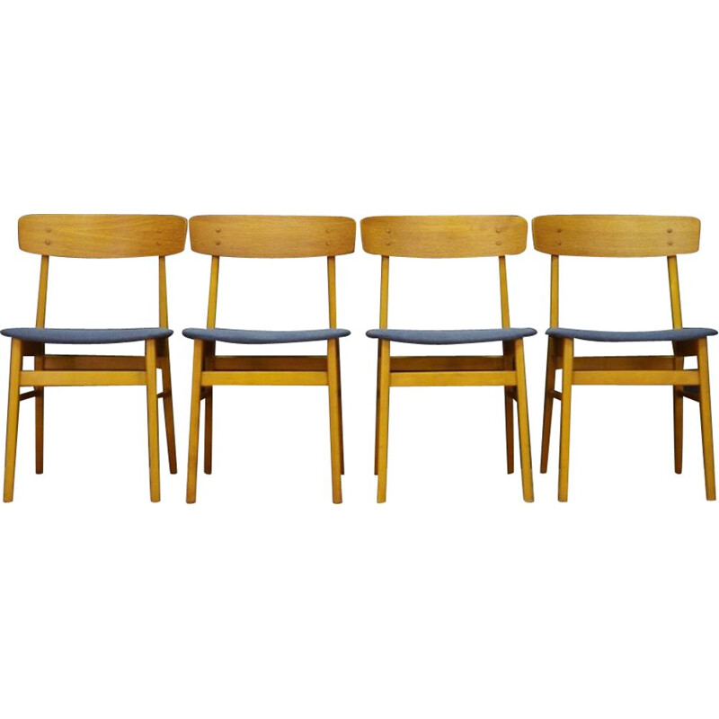 Set of 4 vintage Farstrup Chairs Teak Classic 1960s