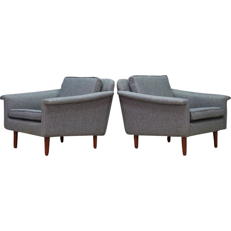 Pair of vintage danish armchairs 1960