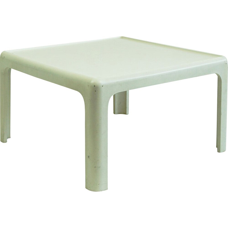 Vintage white coffee table by Peter Ghyzhy for the horn collection Germany 1970