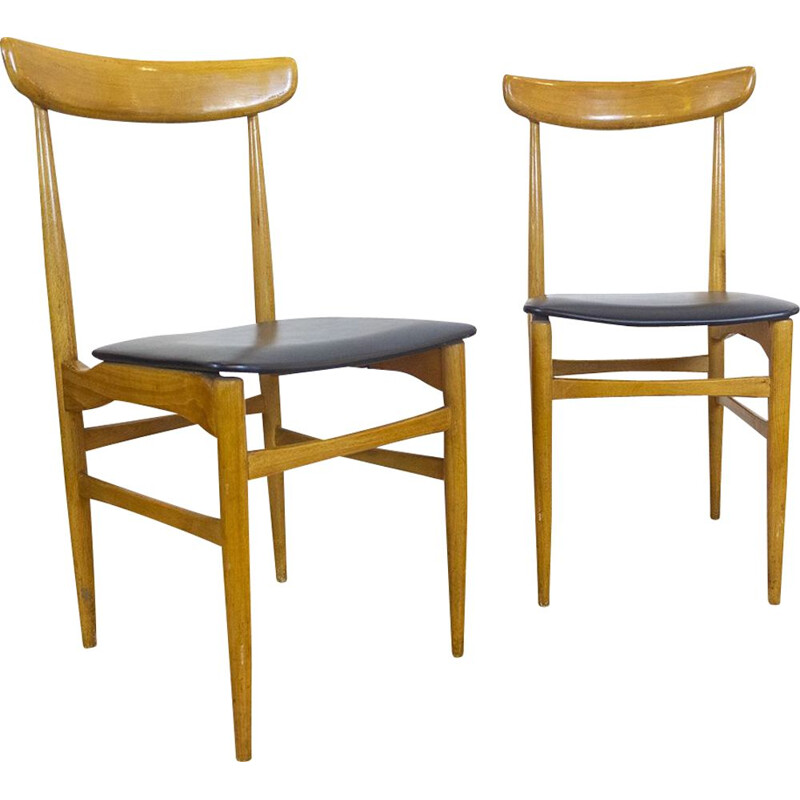 Set of 6 Spanish Mid Century Chairs, 1960