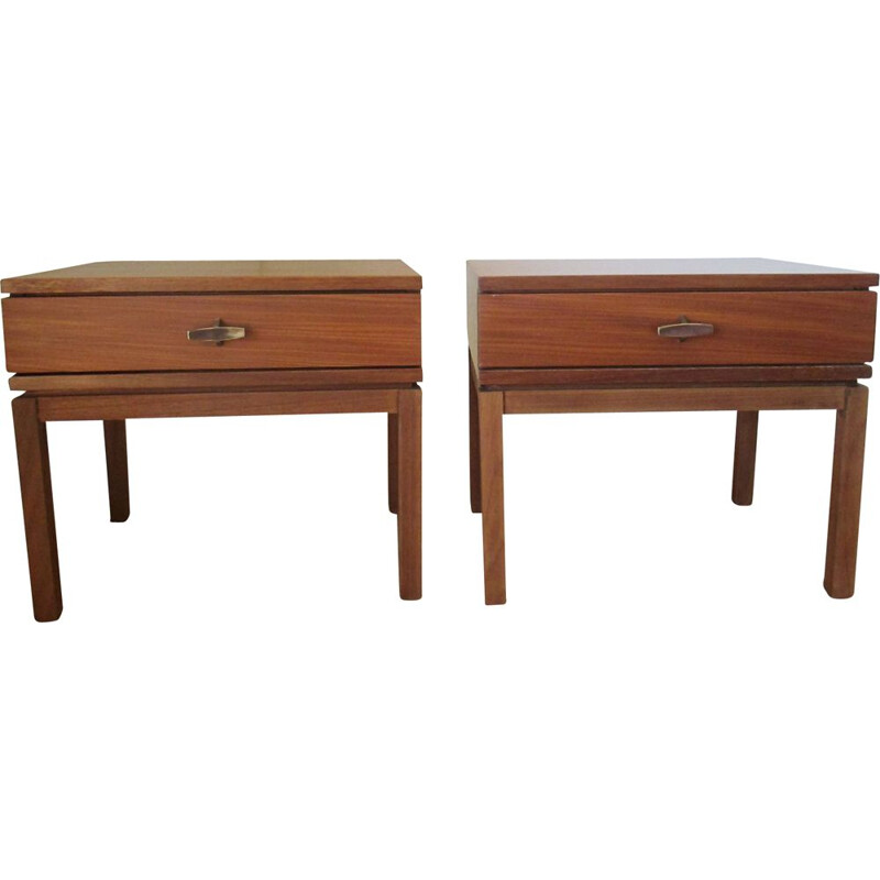 Pair of  M.Gascoin vintage bedside tables 1960