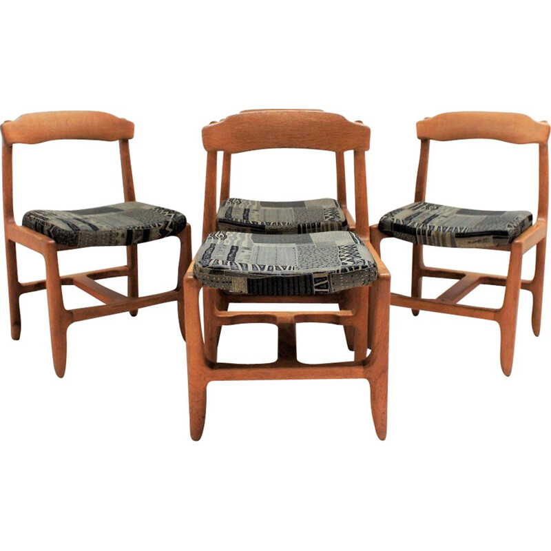Set of 4 vintage chairs Guillerme and Chambron