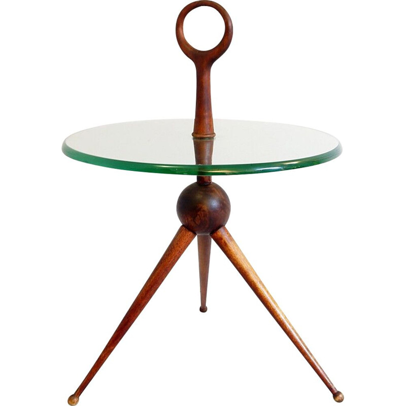 Vintage tripod side table by Cesare Lacca 1950